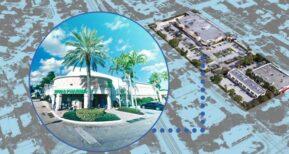 A Publix-anchored shopping center in Delray Beach